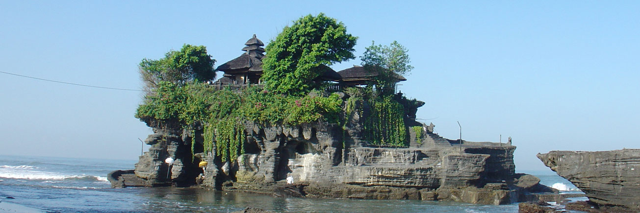 Tanah Lot Meerestempel am Morgen